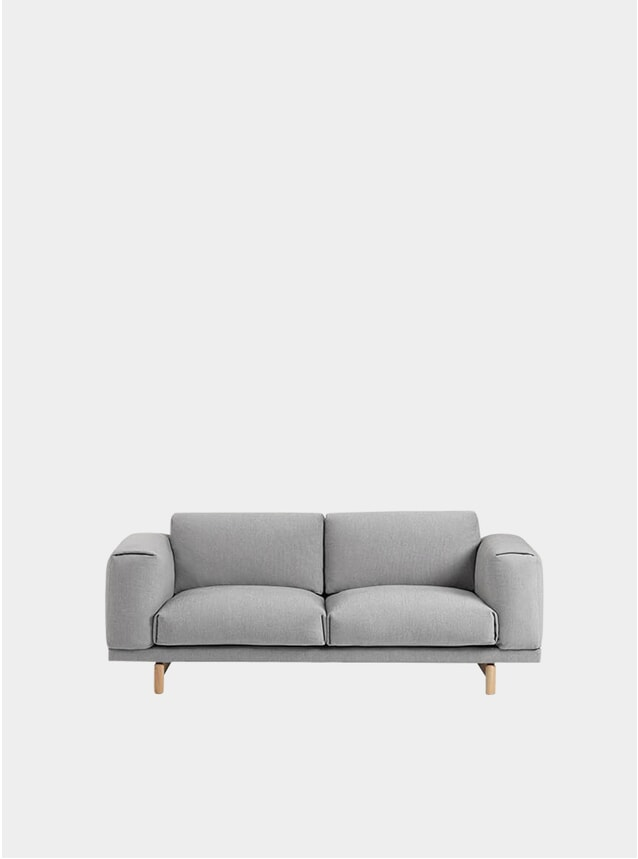 Grey Two Seater Rest Sofa