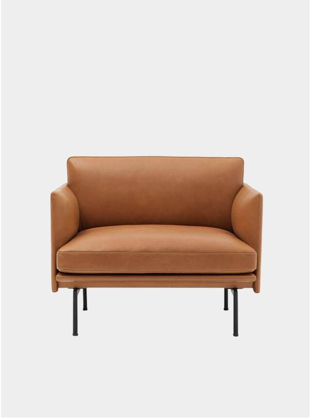 Silk Leather Outline Armchair