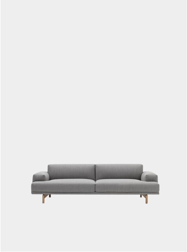 Grey Three Seater Compose Sofa