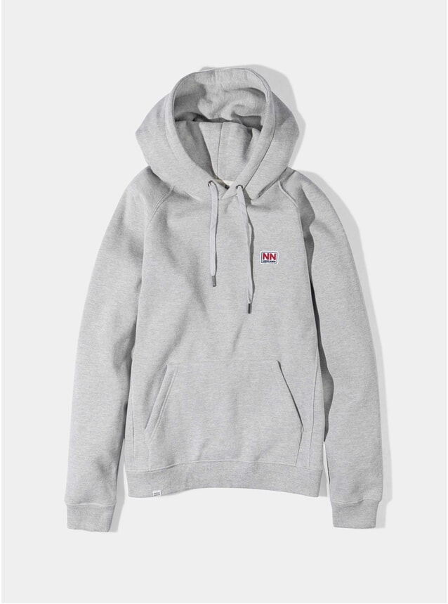 Grey P6 Chest Logo Hoodie