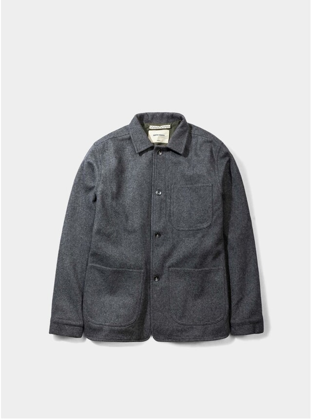 Grey Wool Utility Jacket