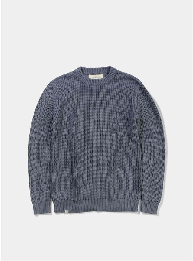 Indigo Blue Asker Wool Knit
