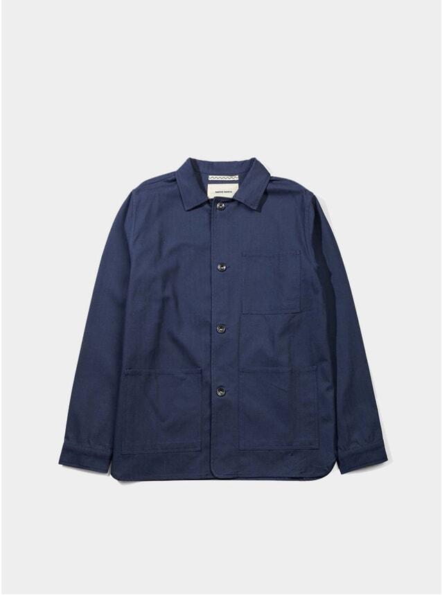 Indigo Herringbone Utility Jacket