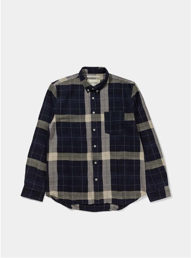 Navy Troels Check Shirt