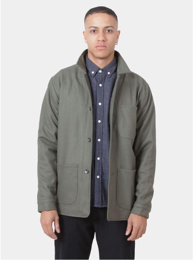 Olive Wool Utility Jacket