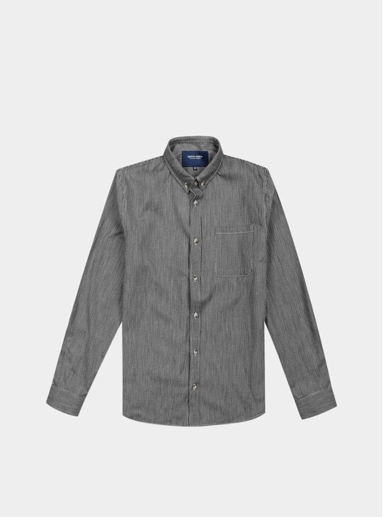 Black / White Herringbone Shirt