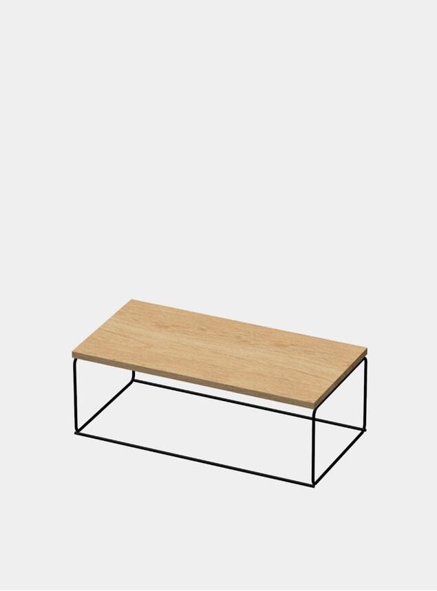 Natural / Black DL1 Tangram Rectangular Side Table