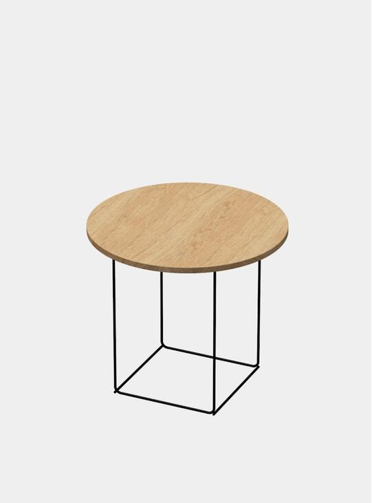 Natural Oak / Black DL3 Tall Umbra Round Side Table