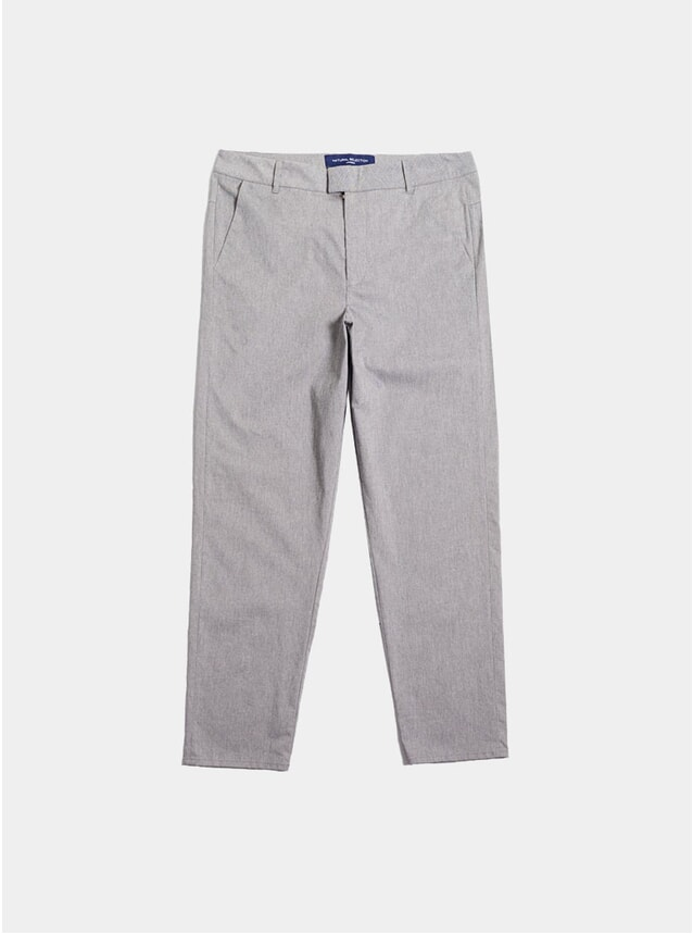 Grey Heather Flannel Boxer Trousers