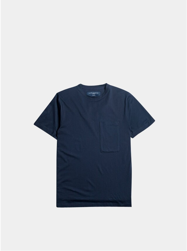 Navy Supima Pocket T Shirt