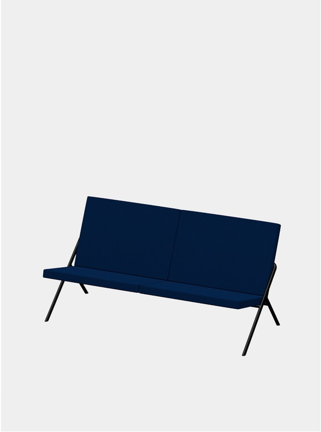 Navy DL2 Euclides Two Seater Sofa