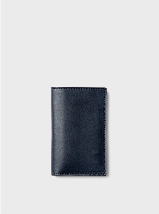 Navy Simple Slim Card Wallet