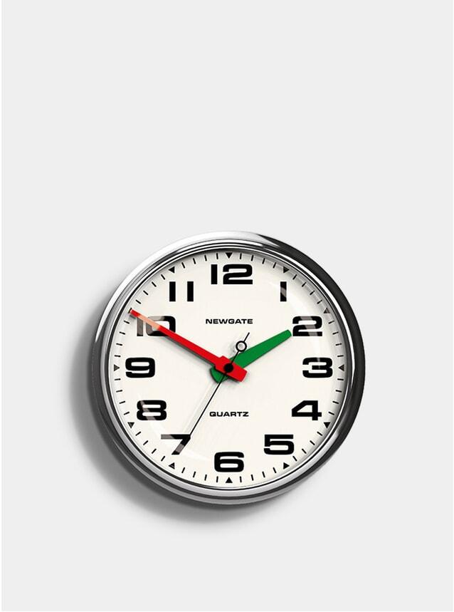 Chrome Brixton Clock