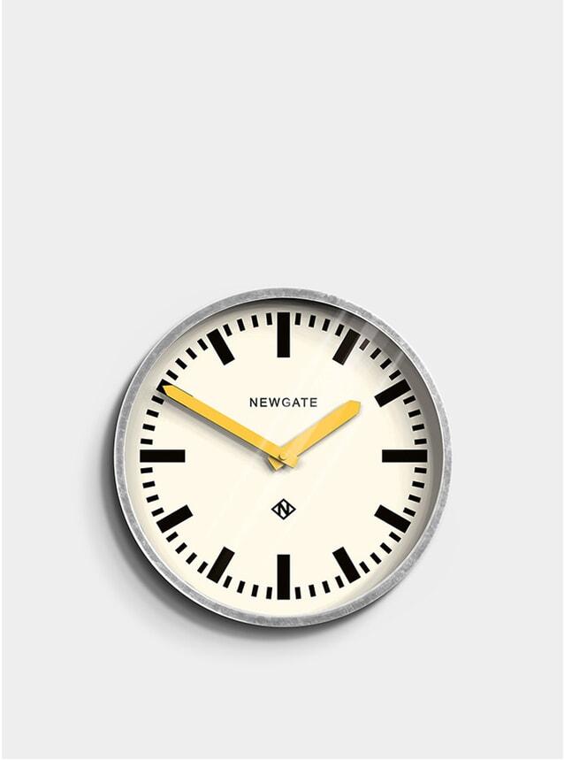 Yellow / Metal Luggage Clock
