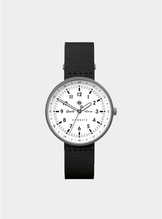 Black / White / Silver Torpedo Watch