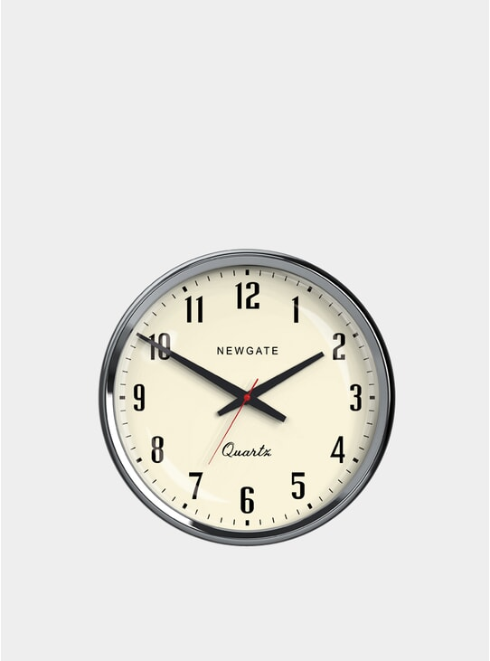 Chrome Mechanic Clock