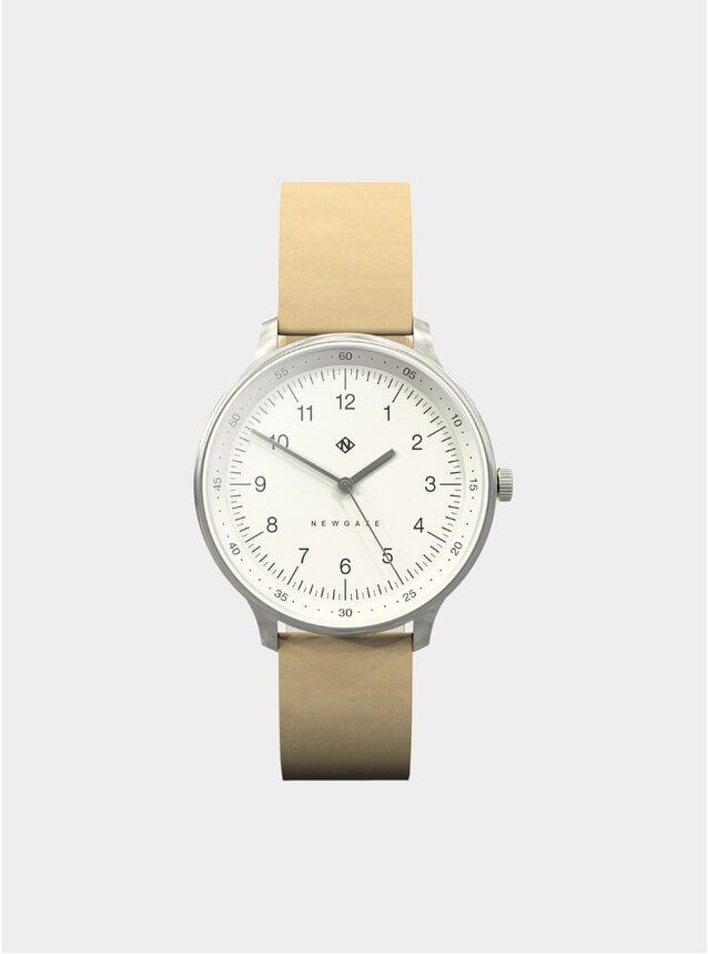 Nude Leather Blip Watch