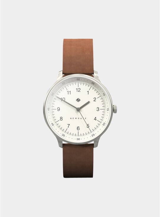 Tan Leather Blip Watch