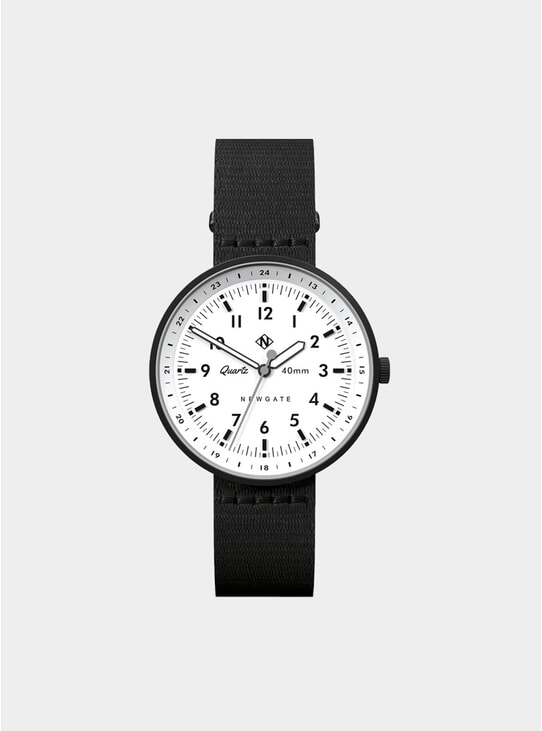 White / Black Torpedo Watch