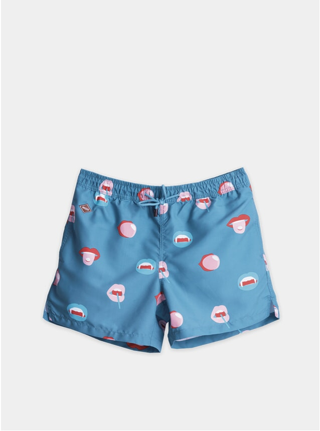 Blue Big Mouth Swim Shorts