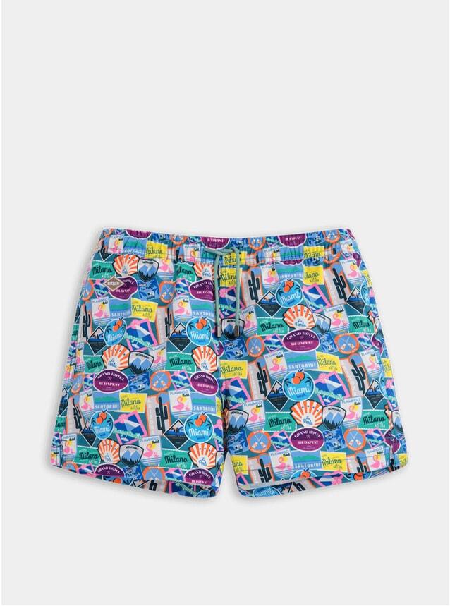 City Sticker Swim Shorts