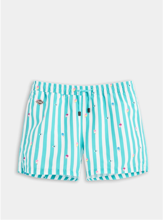 Eyes Cream Swim Shorts