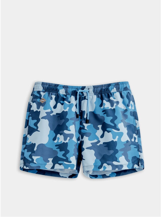 Navy Camo Swim Shorts