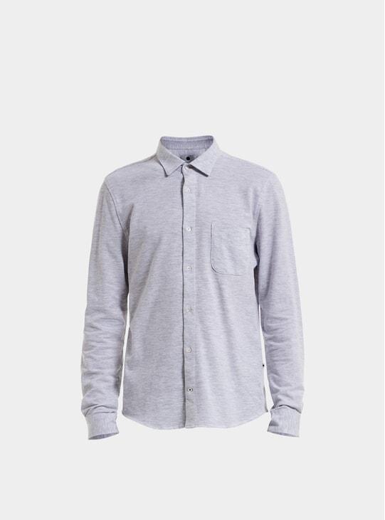 O.White / Grey Melange Sean Jersey Shirt