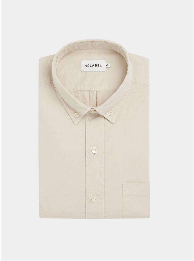 Beige Mats Plain Twill Shirt