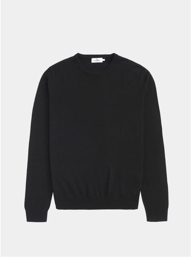 Black Knitted Crewneck