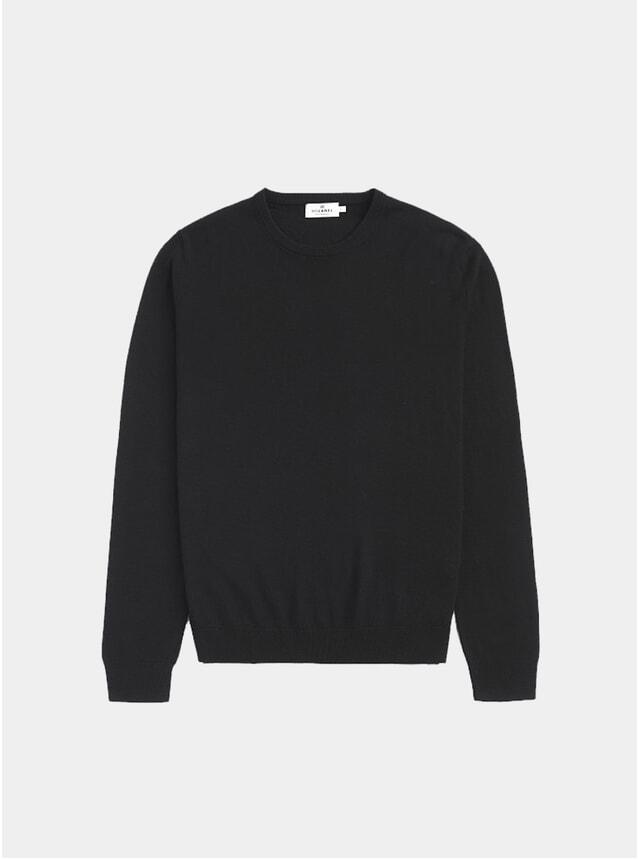 Black Minimalist Cotton-Silk Knit