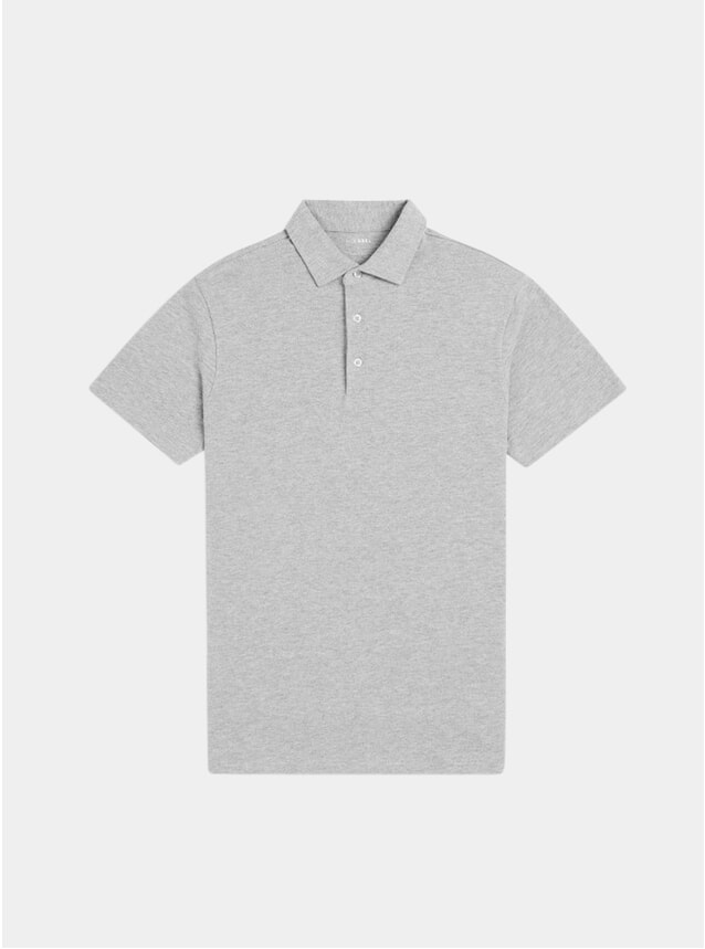 Grey Ralph Plain Cotton Polo Shirt