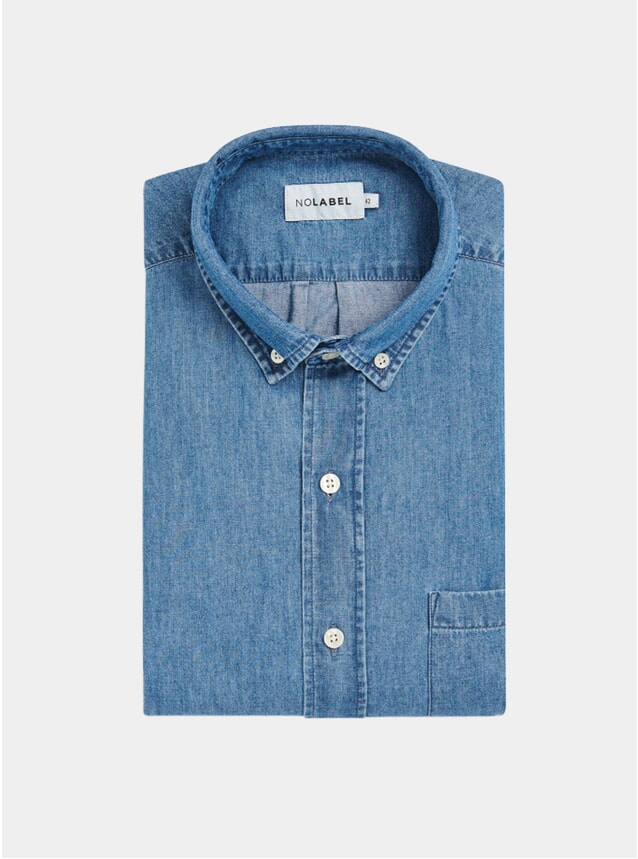 Indigo Mats Denim Cotton Shirt