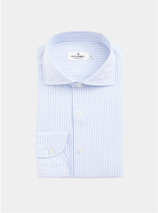 Light Blue Oxford Stripe Oxford Shirt