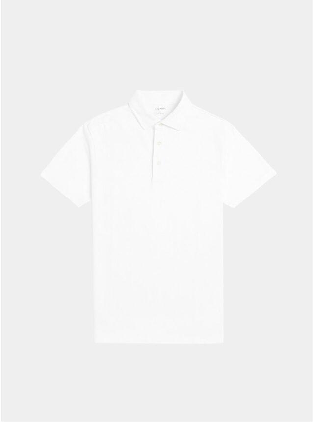 White Ralph Plain Cotton Polo Shirt