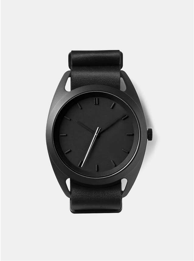Silver Seconds Leather Watch