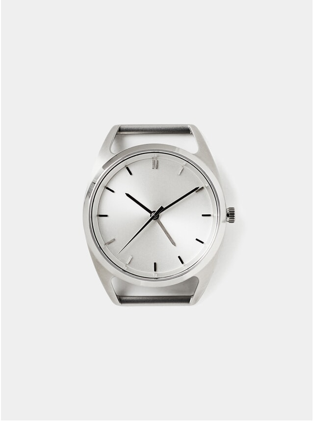Silver 36 Seconds GMT Watch