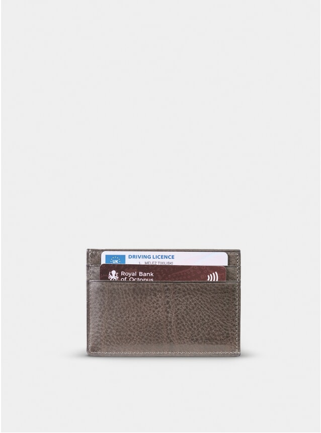 Taupe Grey Compact 4 Card Holder