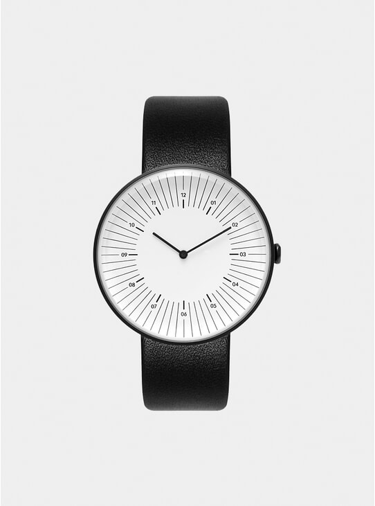 Black / White Outline Watch