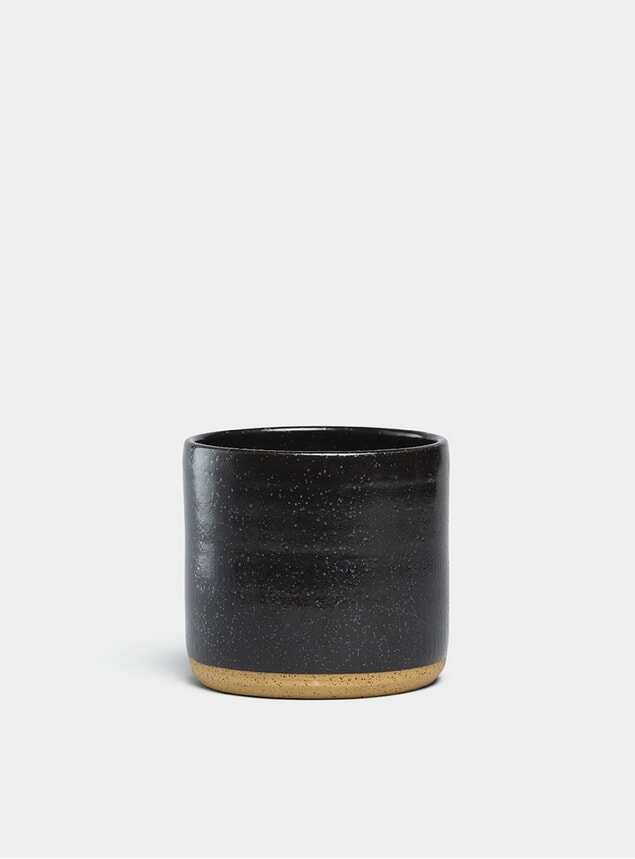 "Black Speckle Norden 7"" Planter"