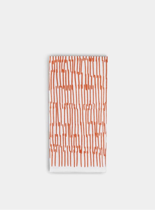 Rust Phonecia Linen Tea Towel