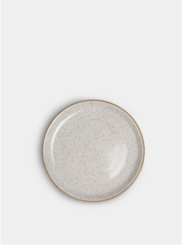 """White Speckle 8"""" Salad Plate"""