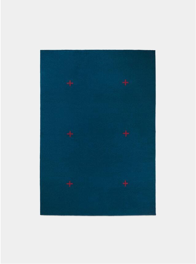 Blue / Red Plus Rug