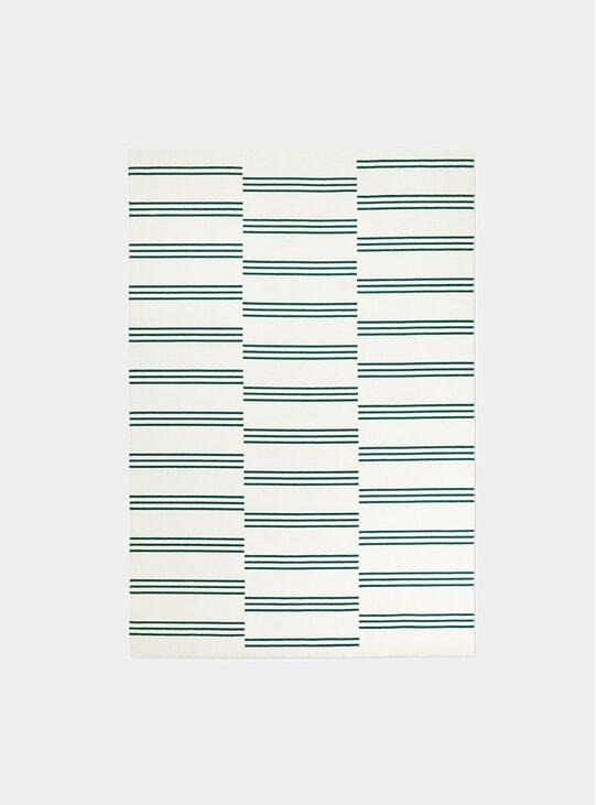 Cream / Green Stripes Rug