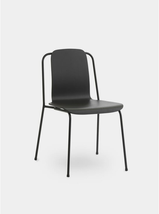 Black Steel Studio Chair