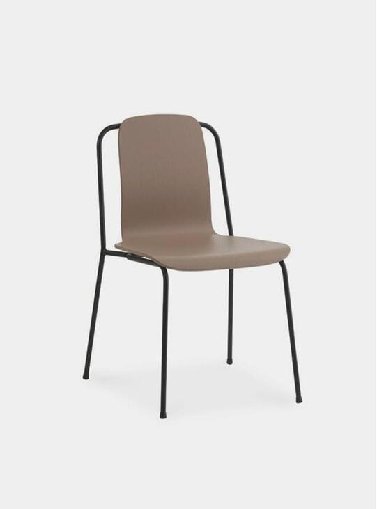 Brown / Black Steel Studio Chair
