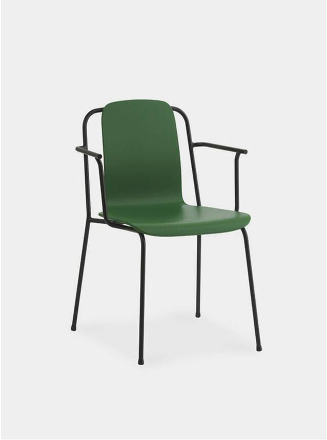 Green / Black Steel Studio Armchair