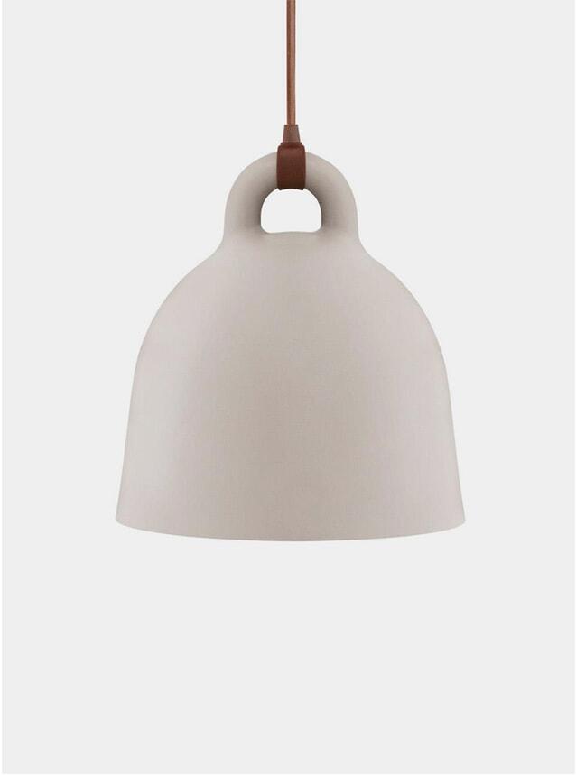 Large Sand Bell Pendant Lamp