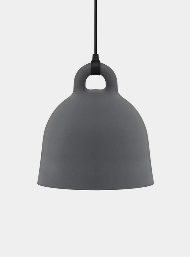 Medium Grey Bell Pendant