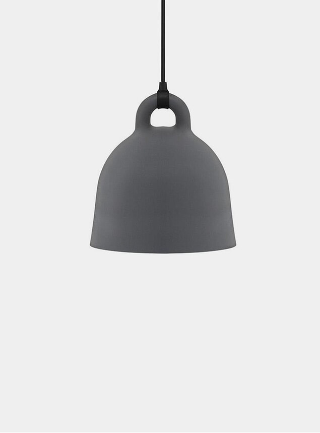 Small Grey Bell Pendant Lamp